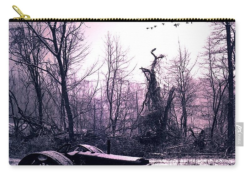 Straggler Carry-all Pouch featuring the photograph The Straggler...thurston Hollow Pa. by Arthur Miller