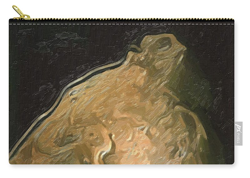 Nude Carry-all Pouch featuring the painting The Strange Ratman by Joaquin Abella