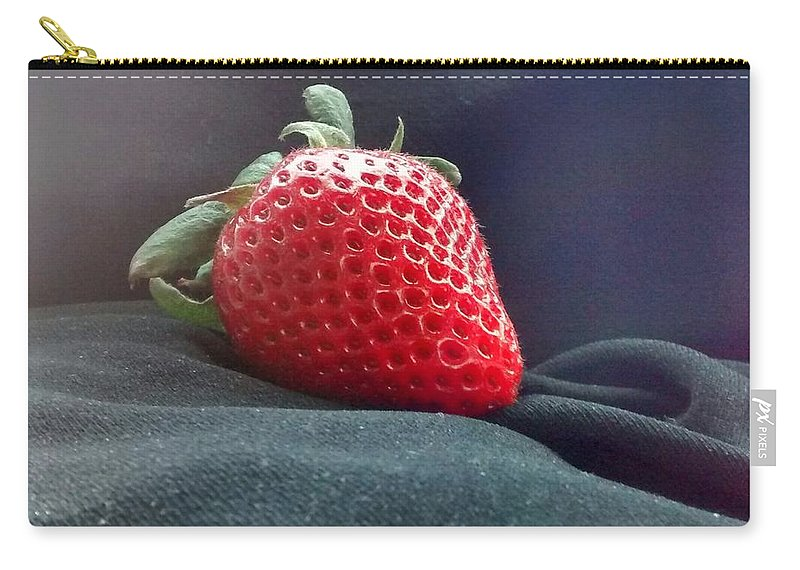 Friut Carry-all Pouch featuring the photograph The Strawberry Portrait by Sylvester Wofford