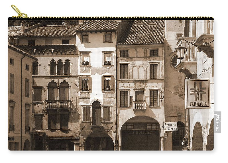 Landscape Carry-all Pouch featuring the photograph The Streets Of Vittorio Veneto by Donna Corless