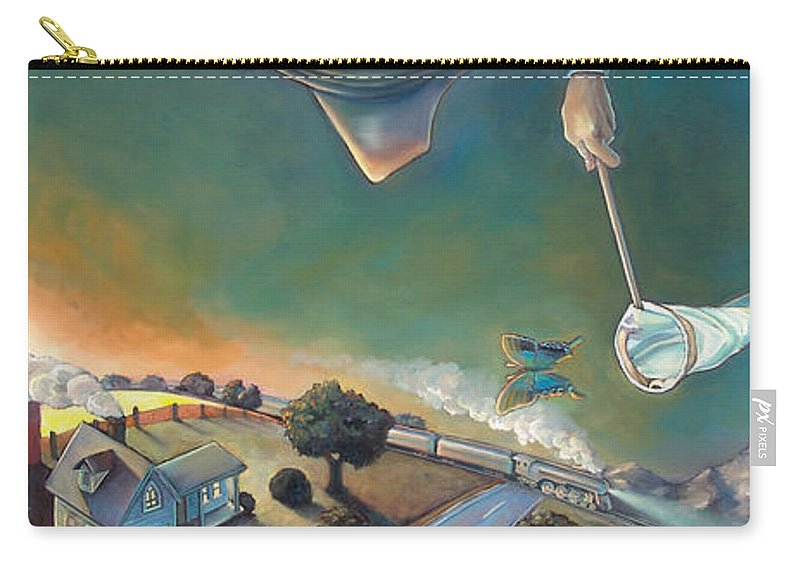 Boat Carry-all Pouch featuring the mixed media The Strife Of Wanderlust In A Dream by Patrick Anthony Pierson