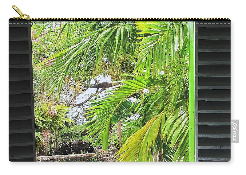 Window Carry-all Pouch featuring the photograph The Studio Window by Ian MacDonald