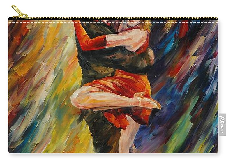 Dance Carry-all Pouch featuring the painting The Sublime Tango by Leonid Afremov