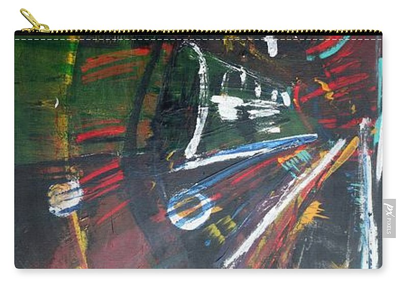 Jack Diamond Art Carry-all Pouch featuring the painting The Subway Experience by Jack Diamond