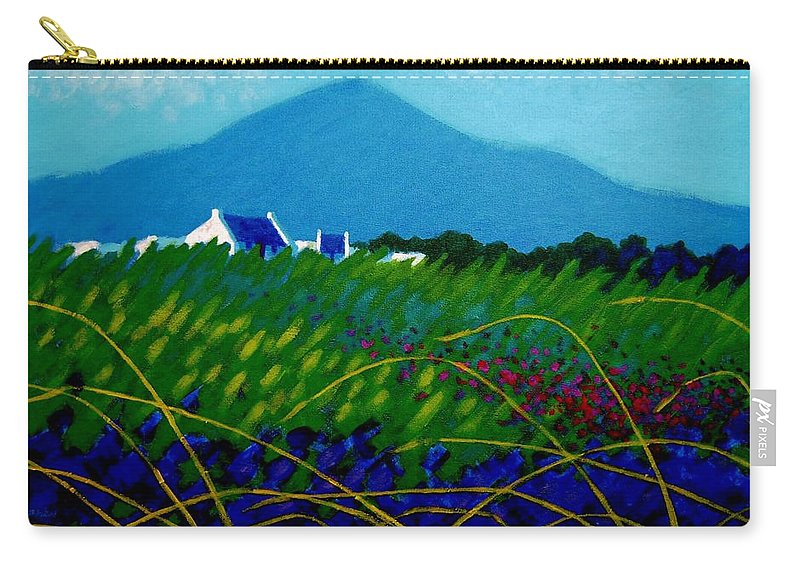 Irish Landscape Carry-all Pouch featuring the painting The Sugar Loaf County Wicklow Ireland by John Nolan