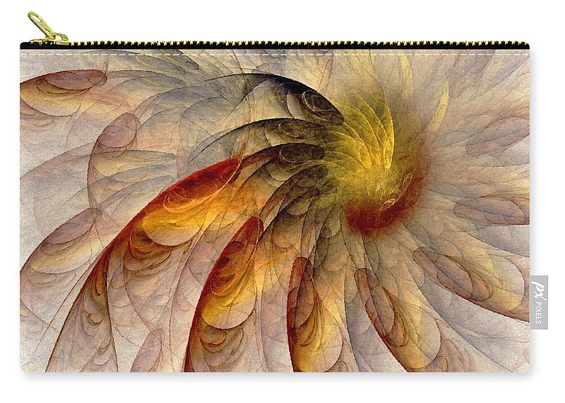 Sun Carry-all Pouch featuring the digital art The Sun Do Move - Remembering Langston Hughes by NirvanaBlues