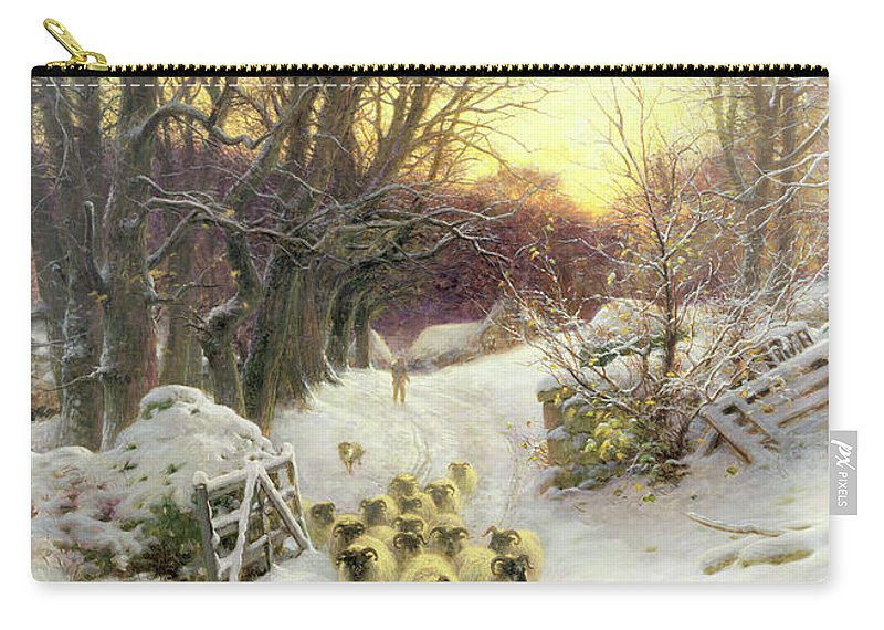 Sunset Carry-all Pouch featuring the painting The Sun Had Closed The Winter's Day by Joseph Farquharson