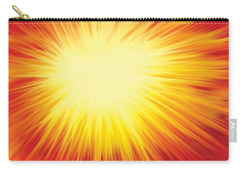 Solar System Carry-all Pouch featuring the digital art The Sun by Rabi Khan