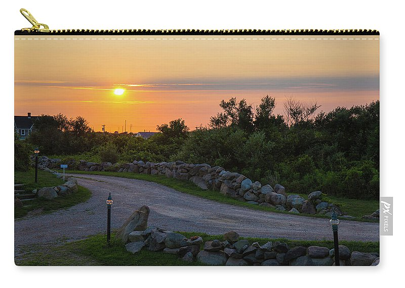 Beach Carry-all Pouch featuring the photograph The Sun Sets On Block Island by Justin Starr