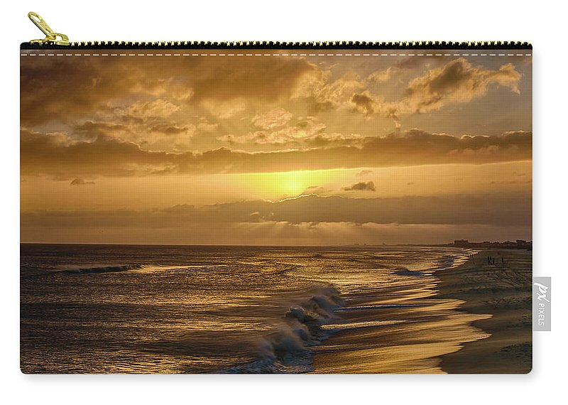 Sunset Carry-all Pouch featuring the photograph The Sun Will Return by Jody Merritt