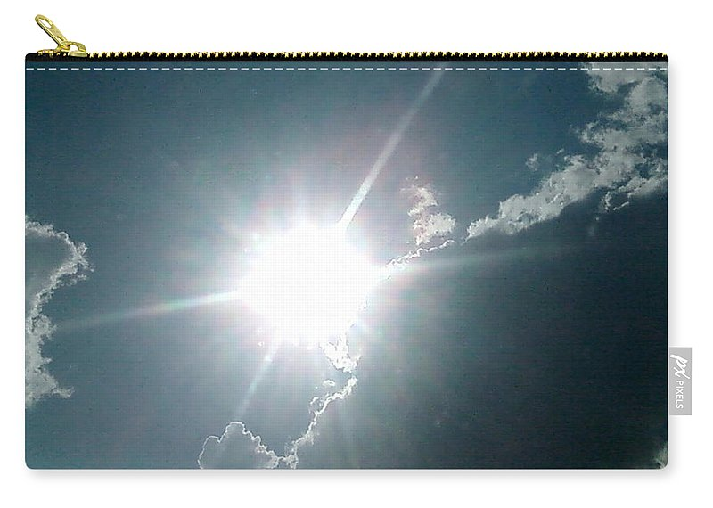 Sun Carry-all Pouch featuring the photograph The Sun's Beams by Cindy New