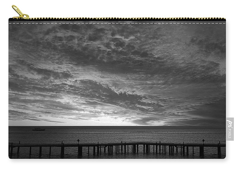 Clouds Carry-all Pouch featuring the photograph The Sunset by Munir Alawi