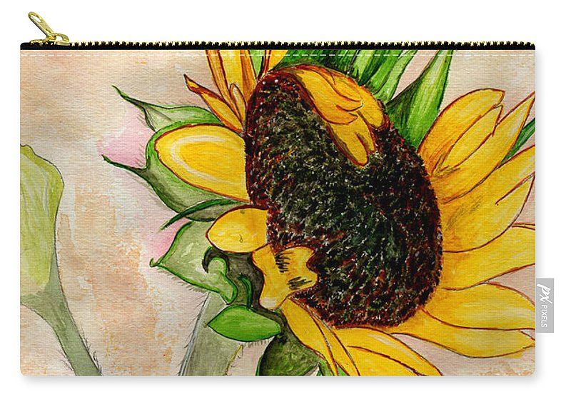 Sunflower Carry-all Pouch featuring the painting The Sunshine Of God's Love by Anne Gitto