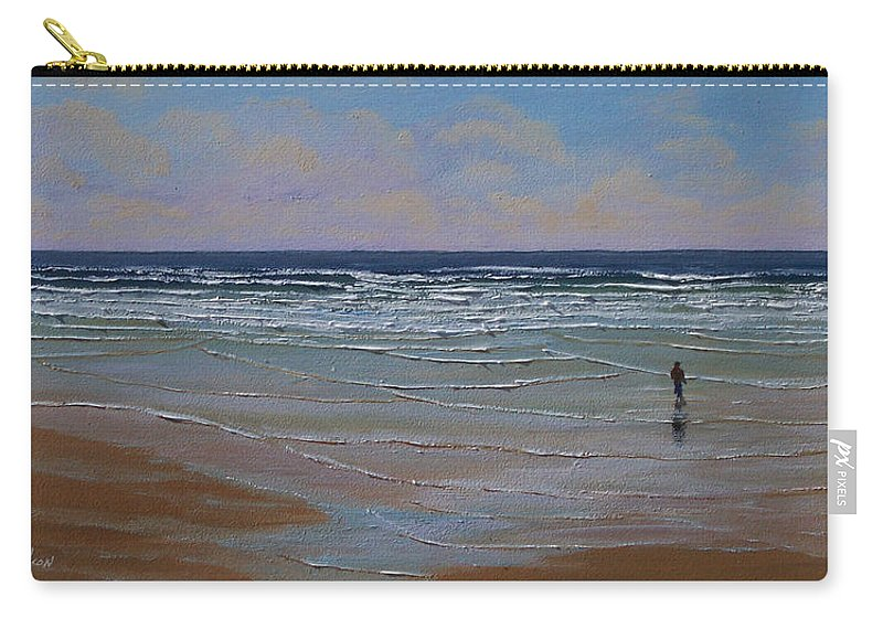 Seascape Carry-all Pouch featuring the painting The Surf Walker by Frank Wilson