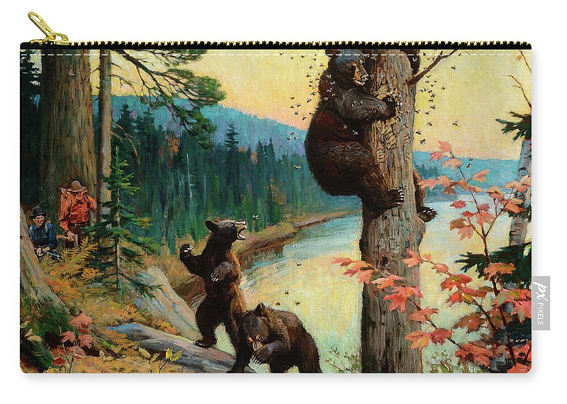Honey Carry-all Pouch featuring the painting The Surprise Party by Philip R Goodwin