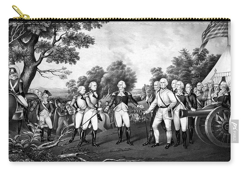 Revolutionary War Carry-all Pouch featuring the painting The Surrender Of General Burgoyne by War Is Hell Store