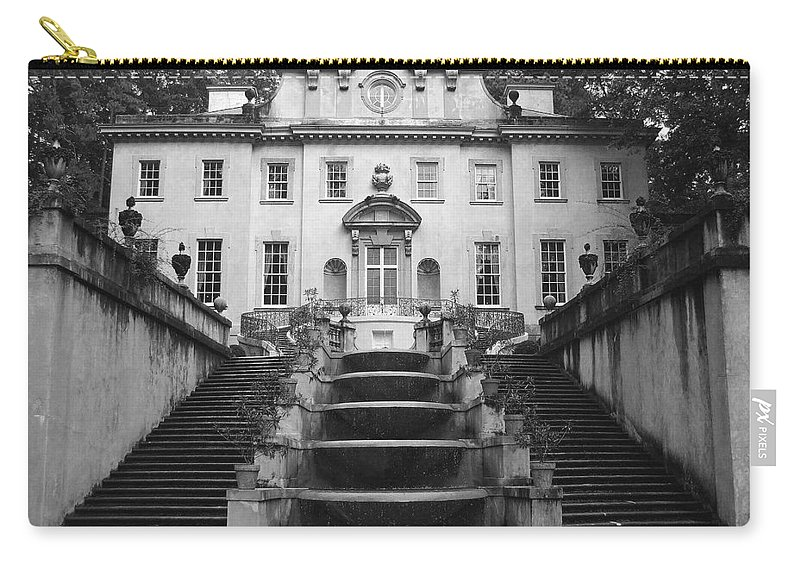 Historic Landmark Carry-all Pouch featuring the photograph The Swan House by Robert Meanor