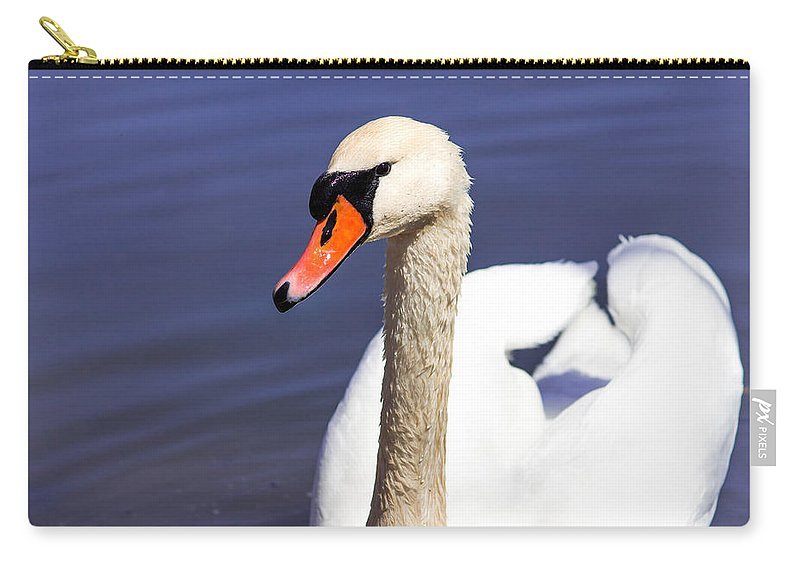 Swan Carry-all Pouch featuring the photograph The Swan by Nancy Comley