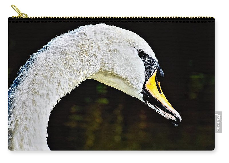 Swan Carry-all Pouch featuring the photograph The Swan by Tony Stamp