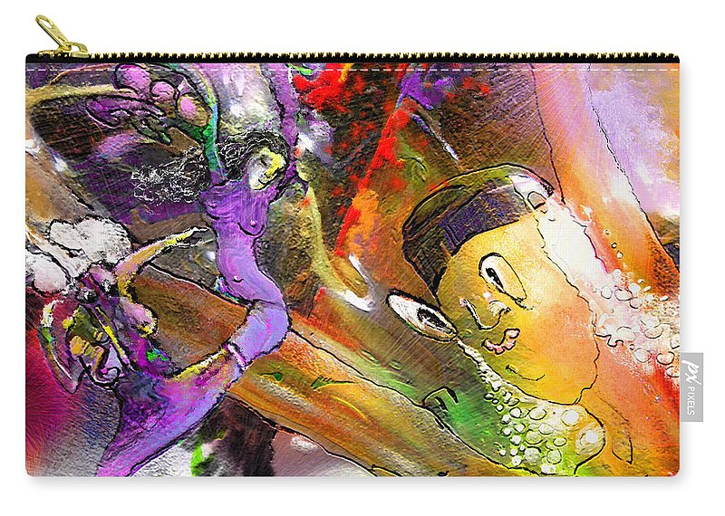 Fantasy Carry-all Pouch featuring the painting The Sweeties 02 by Miki De Goodaboom