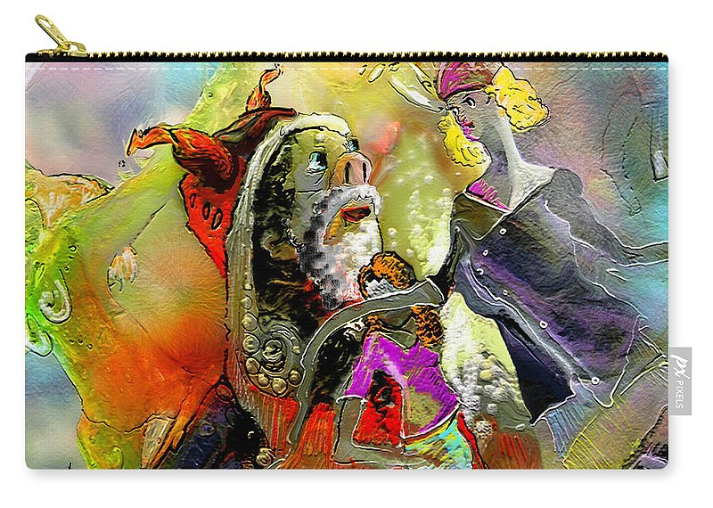 Fantasy Carry-all Pouch featuring the painting The Sweeties 03 by Miki De Goodaboom