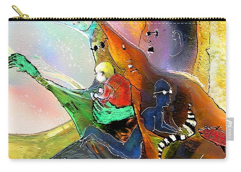 Fantasy Carry-all Pouch featuring the painting The Sweeties 04 by Miki De Goodaboom