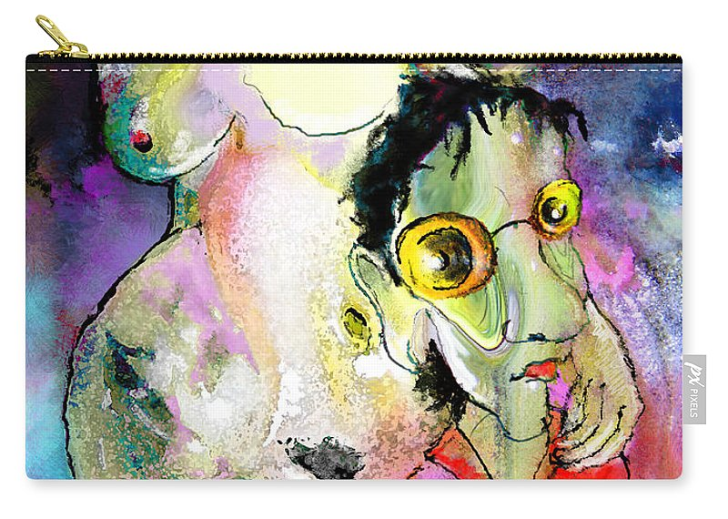 Fantasy Carry-all Pouch featuring the painting The Sweeties 05 by Miki De Goodaboom