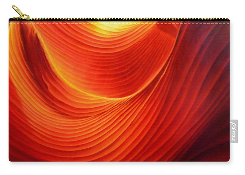 Antelope Canyon Carry-all Pouch featuring the painting The Swirl by Anni Adkins