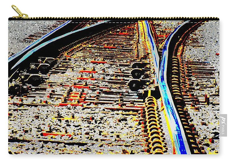 Train Carry-all Pouch featuring the digital art The Switch by Tim Allen