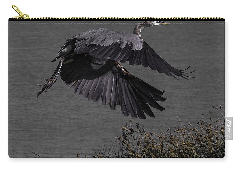Bird Carry-all Pouch featuring the photograph The Take Off by Leticia Latocki