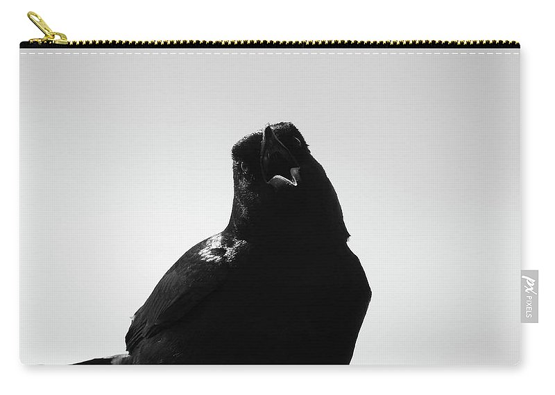 Crow Carry-all Pouch featuring the photograph The Talking, No. 1 by Elie Wolf