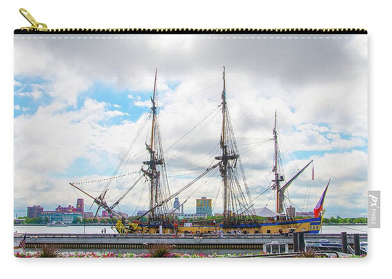 The Carry-all Pouch featuring the photograph The Tall Ship Hermione - Philadelphia Pa by Bill Cannon