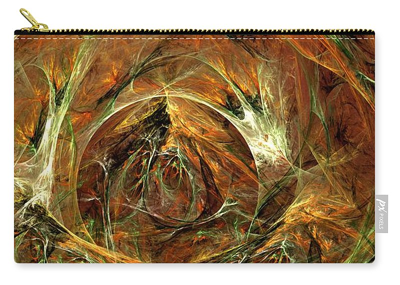 Digital Painting Carry-all Pouch featuring the digital art The Tangled Webs We Weave by David Lane