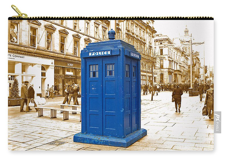 Blue Carry-all Pouch featuring the photograph Blue Box by Rob Hawkins