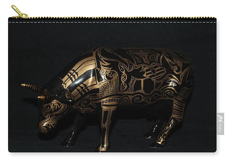 Tattoo Carry-all Pouch featuring the photograph The Tattooed Cow by Rob Hans