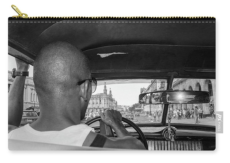 Cuba Carry-all Pouch featuring the photograph From The Taxi by Marla Craven