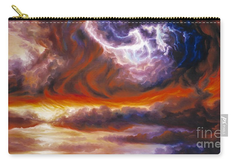 Tempest Carry-all Pouch featuring the painting The Tempest by James Christopher Hill