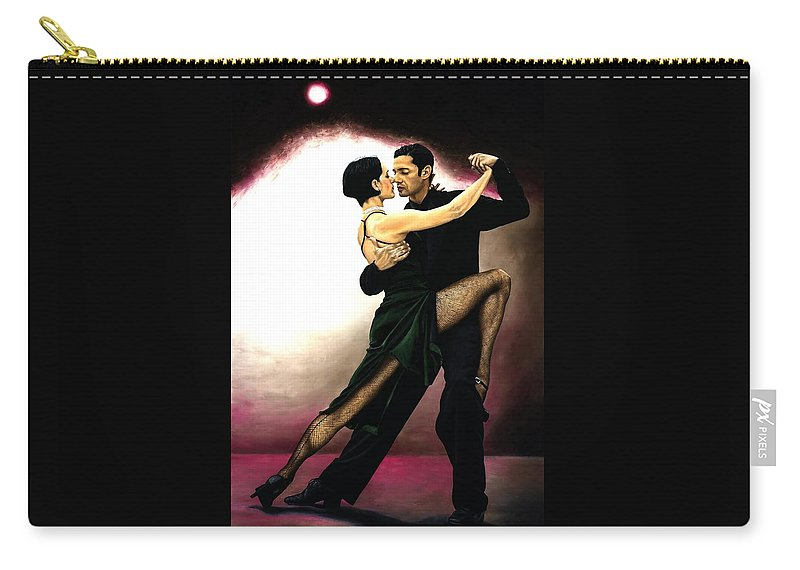 Tango Carry-all Pouch featuring the painting The Temptation of Tango by Richard Young