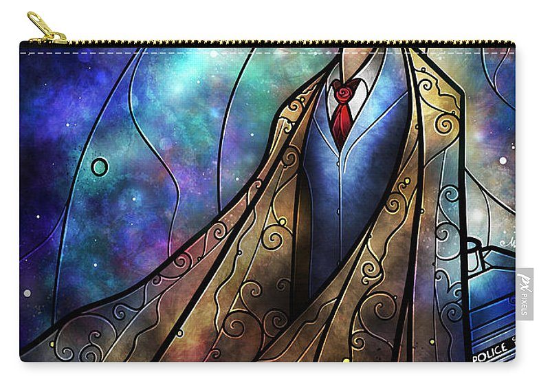 The Doctor Carry-all Pouch featuring the digital art The Tenth by Mandie Manzano