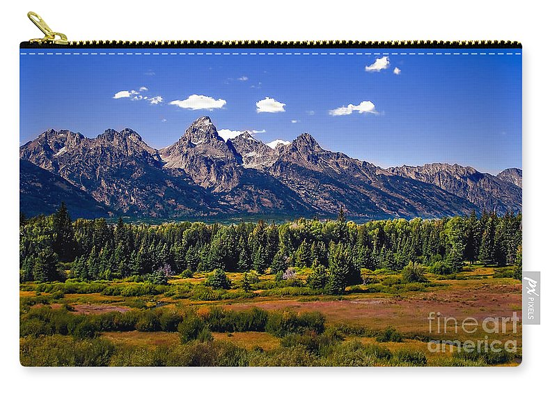 Forest Carry-all Pouch featuring the photograph The Tetons II by Robert Bales