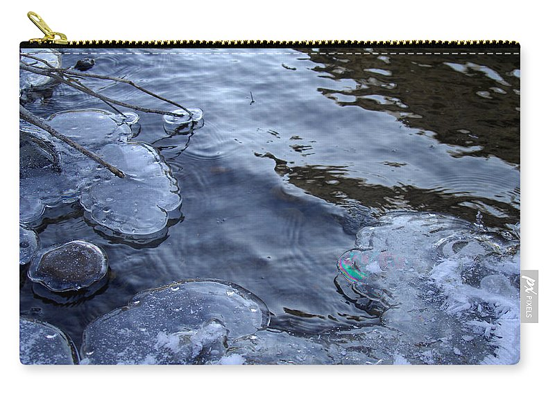Ice Carry-all Pouch featuring the photograph The Thaw Is Coming by Donna Blackhall