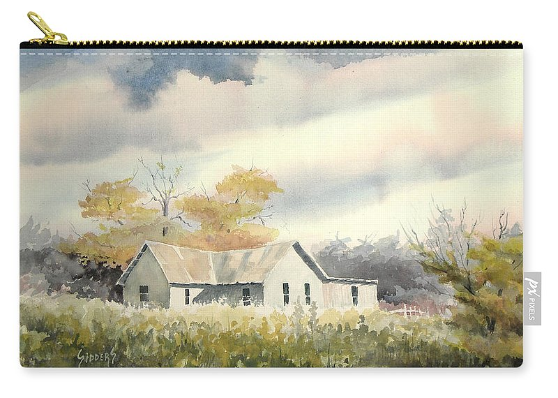 Farm Carry-all Pouch featuring the painting The Thompson Place by Sam Sidders