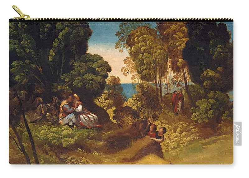 The Carry-all Pouch featuring the painting The Three Ages Of Man 1515 by Dossi Dosso