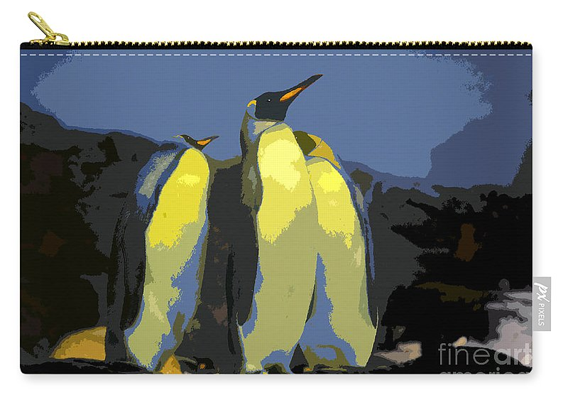 Art Carry-all Pouch featuring the painting The Three Emperors by David Lee Thompson