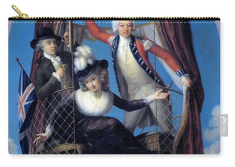 John Francis Rigaud Carry-all Pouch featuring the painting The Three Favorite Air Travelers by John Francis Rigaud