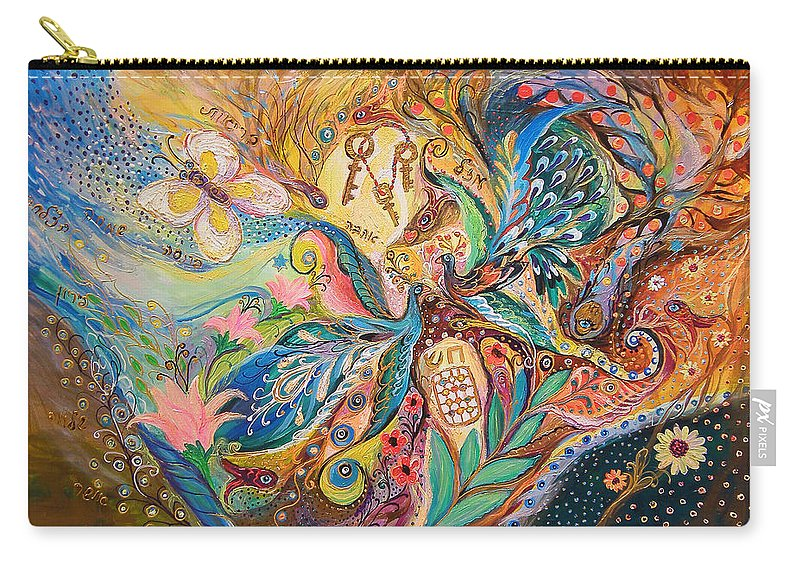 Original Carry-all Pouch featuring the painting The Three Keys by Elena Kotliarker