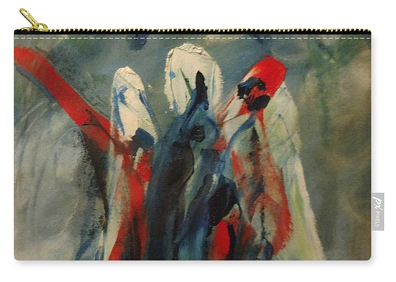 The Three Kings Of Christmas Carry-all Pouch featuring the painting The Three Kings Of Christmas by Edward Longo