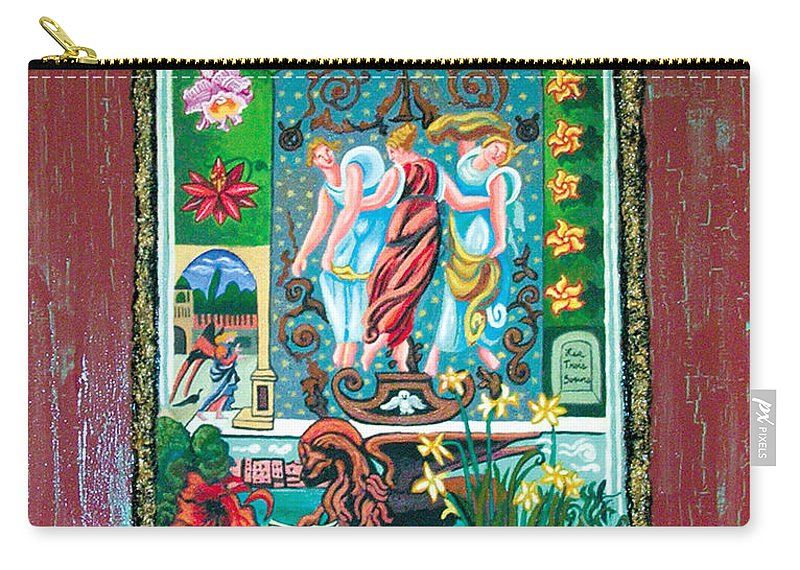 Women Carry-all Pouch featuring the painting The Three Sisters by Genevieve Esson