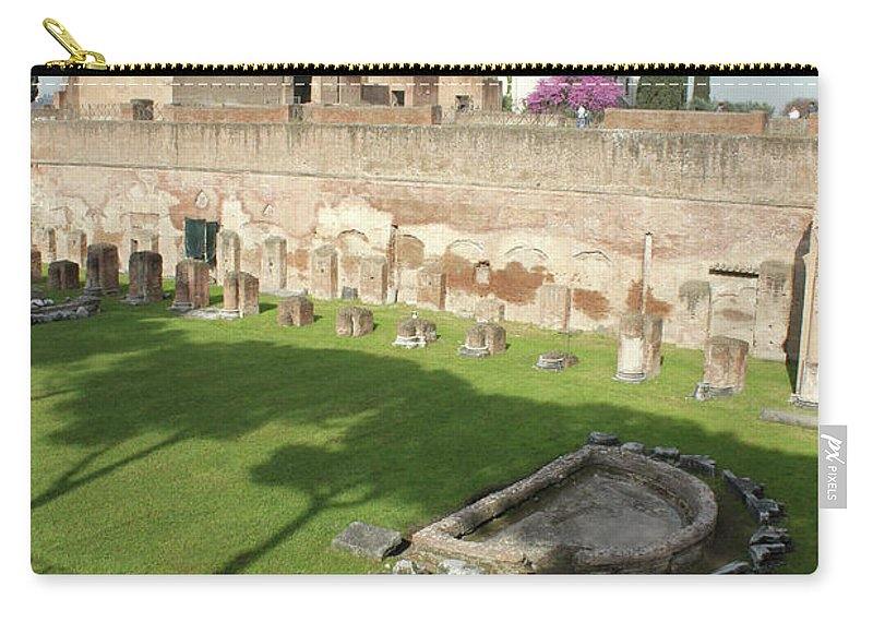 Rome Carry-all Pouch featuring the photograph The Three Trees by Munir Alawi