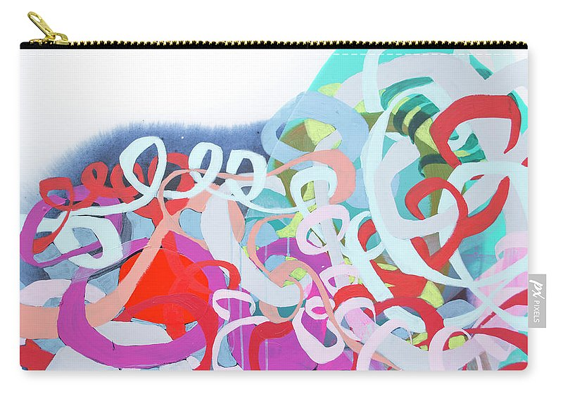 Abstract Carry-all Pouch featuring the painting The Thrill Of It All by Claire Desjardins